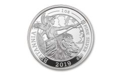2019 Great Britain £2 1-oz Silver Britannia Proof