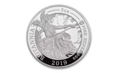 2019 Great Britain £10 5-oz Silver Britannia Proof