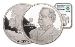2019 Smithsonian 1-oz Silver Buffalo at the Castle NGC Gem Proof