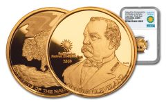 2019 Smithsonian 1/4-oz Gold Buffalo at the Castle NGC PF70UC