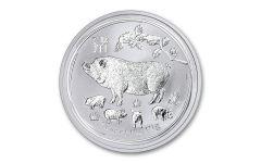 2019 Australia $1 1-oz Silver Year of the Pig BU