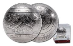 2019 China Kilo Silver Spherical Dragon & Phoenix Proof