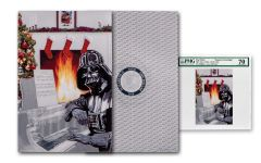 2018 Niue $1 5 Gram Silver Star Wars Seasons Greetings Darth Vader Foil Note PMG Gem Unc 70