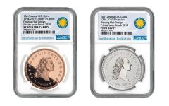 America's First Silver Dollar 1-oz Silver & Copper 2-Piece Set NGC PF70UC