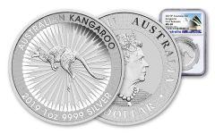 2019 Australia $1 1-oz Silver Kangaroo NGC MS69 First Releases