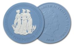 2018 Tristan da Cunha 5-Pound 1.25-oz Wedgwood Three Graces Matte