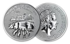 2019 Great Britain 1-oz Silver Lunar Year of the Pig BU