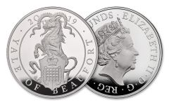 2019 Great Britain £10 10-oz Silver Queen's Beasts Yale of Beaufort Proof