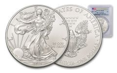 2019 $1 1-oz Silver American Eagle PCGS MS69 First Strike