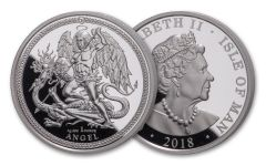 2018 Isle of Man 1-oz Silver Angel Proof