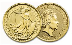 2019 Great Britain 100-Pound 1-oz Gold Britannia Uncirculated