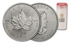 2019 Canada $5 1-oz Silver Maple Leaf BU – Vault Reserve Roll of 25