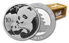 2019 China 30 Gram Silver Panda BU 450-Piece Monster Box