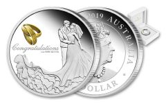 2019 Australia $1 1-oz Silver Wedding Proof
