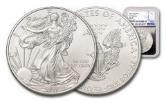 2019 $1 1-oz Silver American Eagle NGC MS70 First Releases - Silver Core
