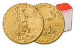 2019 $50 1-oz Gold American Eagle BU 20-Piece Roll