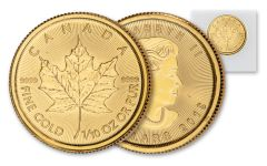 2019 Canada $5 1/10-oz Gold Maple Leaf BU Mint Sealed