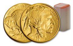 2019 $50 1-oz Gold Buffalo BU 20-Piece Roll