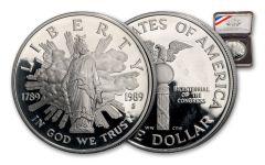 1989-S Silver Dollar U.S. Congress Bicentennial Commemorative Proof