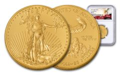 2019 $25 1/2-oz Gold American Eagle NGC MS70 First Releases - Eagle Label
