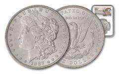 1887-P Morgan Silver Dollar New York Bank Hoard Treasury NGC MS65