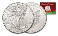 2018 $1 1-OZ SILVER EAGLE BU SEASONS GREETINGS