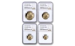 2019-W Gold American Eagle 4-Piece Set NGC PF69UC