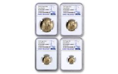2019-W Gold American Eagle 4-Piece Set NGC PF69UC Early Releases