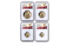 2019-W Gold American Eagle 4-Piece Set NGC PF70UC Early Releases - Eagle Label