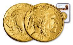 2019 $50 1-oz Gold Buffalo NGC MS70 - Buffalo Label