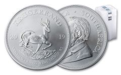2019 South Africa 1-oz Silver Krugerrand BU 25-Piece Roll