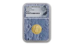 2019-W Apollo 11 50th Anniversary $5 Gold NGC MS70 First Day of Issue - Moon Core with Mission Patch