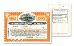 1930's - 1940's International Mercantile Marine Stock
