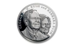 2018 George & Barbara Bush 1-oz Silver Commemorative Medal Proof