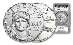 2019 $100 1-oz Platinum Eagle PCGS MS70 First Day of Issue w/Mercanti Signature
