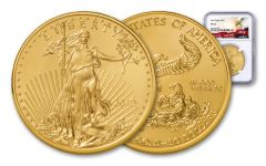 2019 $50 1-oz Gold American Eagle NGC MS70 - Eagle Label