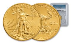 2019 $5 1/10-oz Gold Eagle PCGS MS70 First Strike