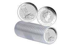 2019 Australia $1 1-oz Silver Wedge Tailed Eagle Uncirculated 20-Piece Roll