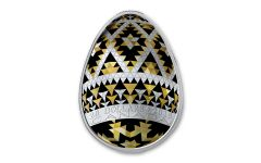 2019 Canada $20 1-oz Silver Pysanka Egg Vegreville Shaped Proof