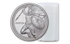 2019 1-oz Silver Warrior Series: Spartan BU 20-pc Roll