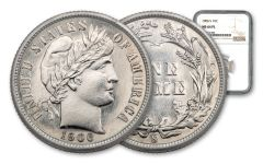 1906-S 10 Cents Silver Barber NGC MS64 PL