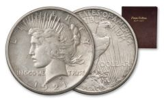 1921–1935 Silver Peace Dollar Complete 24-Coin Collection AU w/Album