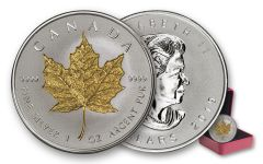 2019 Canada $20 1-oz Silver Maple Leaf Incuse Gilt Reverse Proof