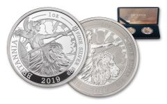 2019 Great Britain £2 1-oz Silver Britannia Proof & Reverse Proof 2-Piece Set