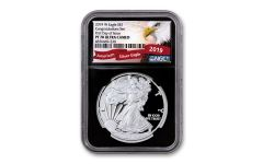 2019-W $1 1-oz Silver American Eagle Congratulations NGC PF70UC First Day of Issue - Black Core