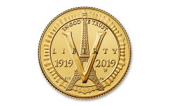 2019-W $5 Gold American Legion 100th Anniversary Commemorative BU