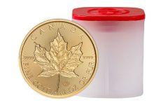 2019 Canada $50 1-oz Gold  Maple Leaf Incuse BU 10-Piece Roll