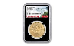 2019 Canada $50 1-oz Gold Incuse Maple Leaf NGC MS70 First Releases - Black Core, Canada Label
