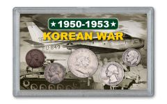 1950-1953 Korean War 5-Coin Set VF w/Bonus MPC Note