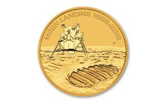 2019 Australia $100 1-oz Gold Moon Landing Apollo 11 50th Anniversary Uncirculated